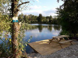poste de pêche sur ponton